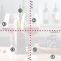 赤ワインの味わいチャート