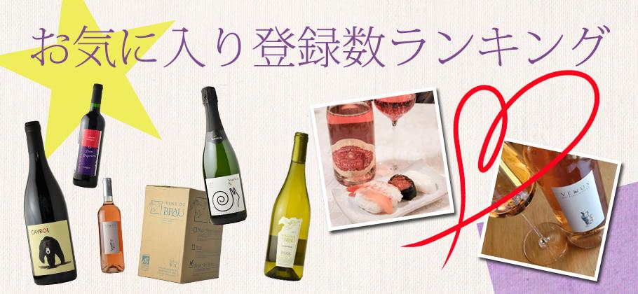 お気に入りワイン人気ランキング