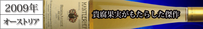 リースリング ベーレンアウスレーゼ 2009 500ml 白 甘口