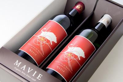 冬のギフト:特別な干支ワイン紅白ギフト【化粧箱入り】