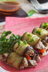 エスニック風 牛肉と野菜のなすロール