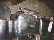 手づくりの冷却タンク