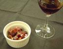 赤ワインと一緒に