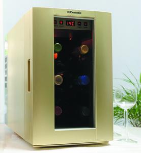 6本用ワインセラー「DW6」シャンパンゴールド - Dometic