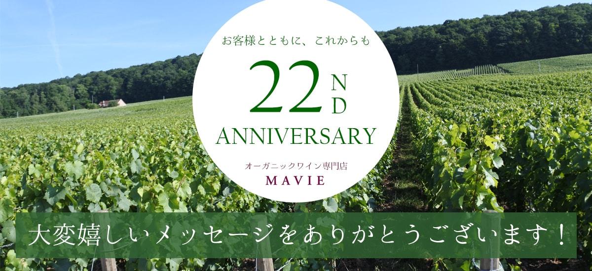 マヴィ創立22周年お客様メッセージ感謝ページ